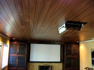 Ламинат на потолке в кабине