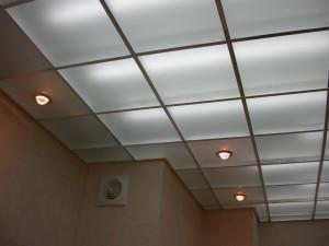 Матовый стеклянный потолок