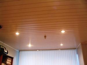 Панельный потолок со светильниками