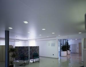 Сатиновый потолок в офисе