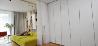 Зонируем помещение шкафом до потолка