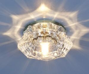 Декоративный светильник с кристаллами