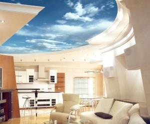 Французский потолок с рисунком