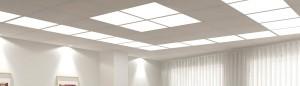 Необычная конструкция из светильников