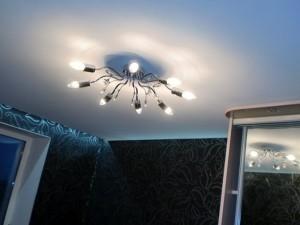 Потолок Черутти в спальне с подсветкой