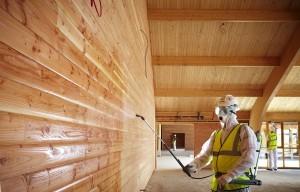 Внутренняя защита деревянных стен и перекрытий
