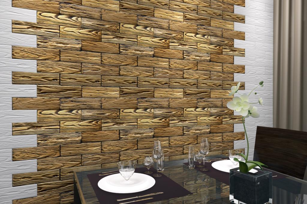 гипсовые плиты приклеенные на стене
