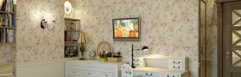 Разновидности отделки стен дома в стиле Прованс
