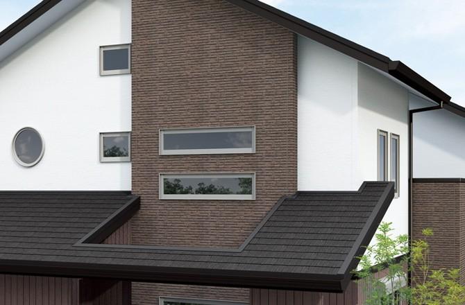 Дом отделанный пластиковыми панелями серии Неорок