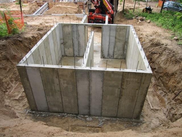 Этап 2 - Стены после снятия опалубки