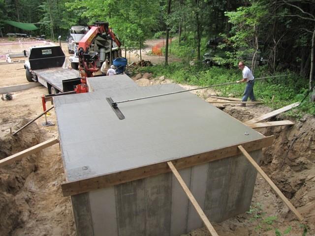 Этап 3 - шлифовка перекрытия бетоном