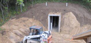 Строительство бетонного монолитного подземного погреба