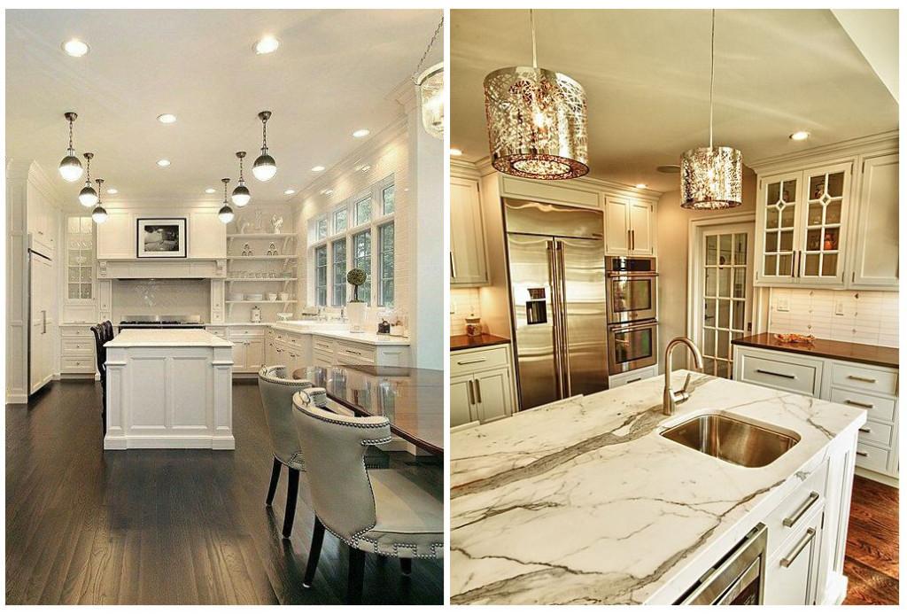 современные кухни под потолок