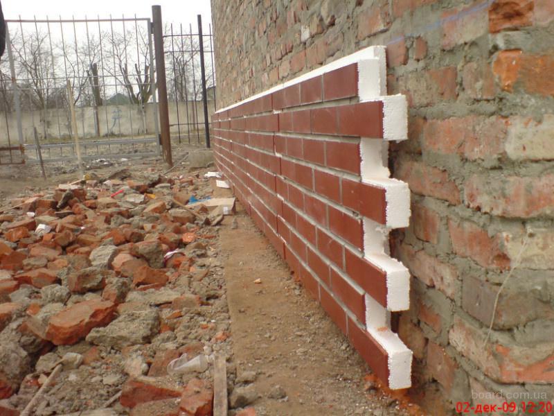 Монтаж  фасадных панелей на клей