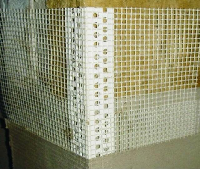 угловое армирование штукатурного фасада по утеплителю