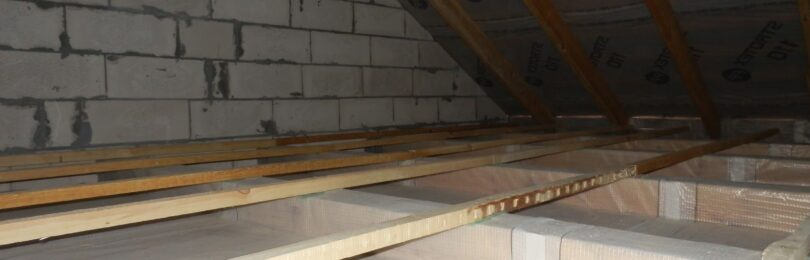 Как положить теплоизоляционный материал на чердачное перекрытие