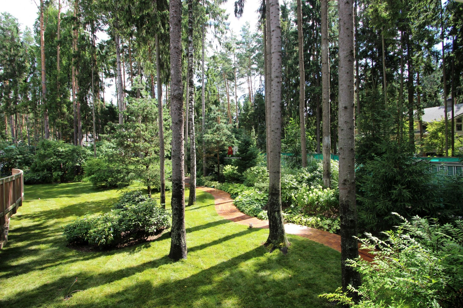 Лесной стиль на участке