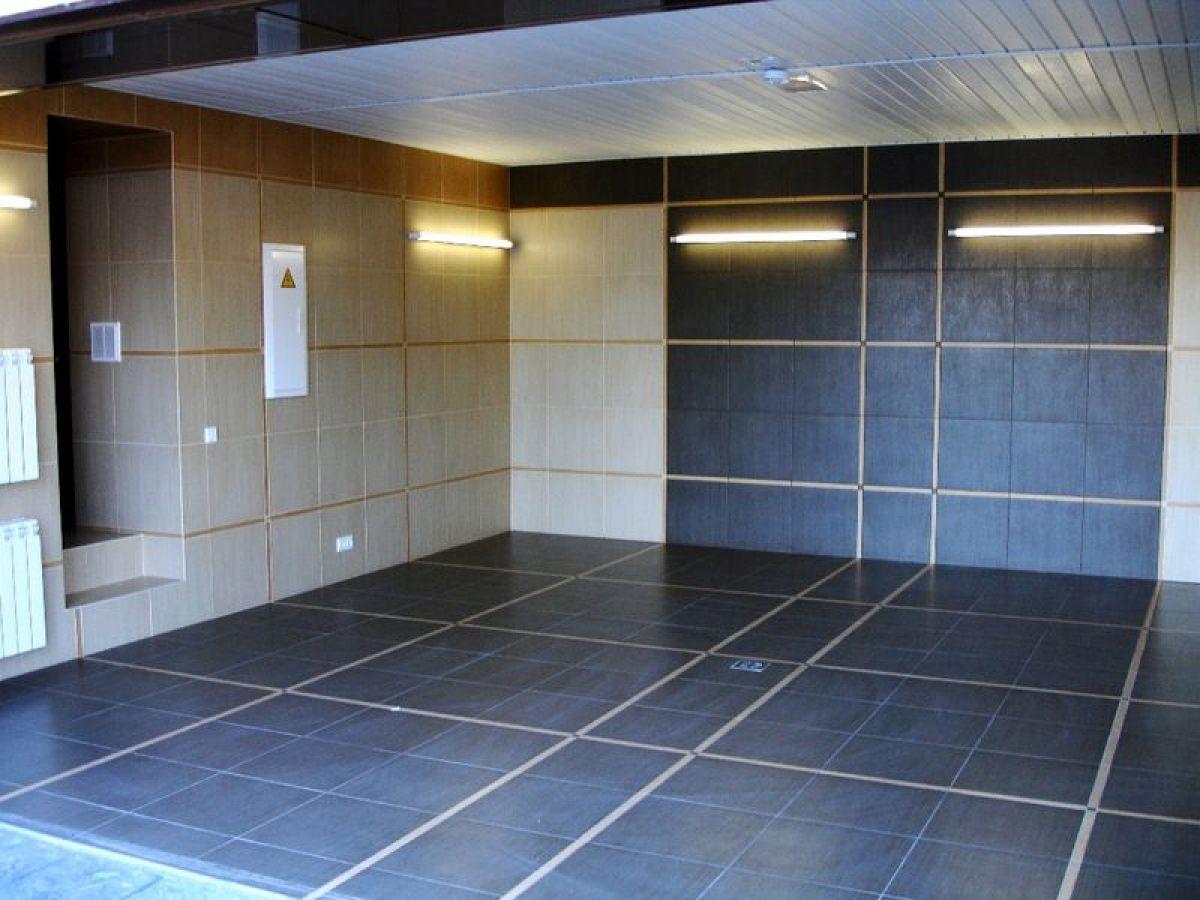 внутренняя отделка стен и пола гаража плиткой