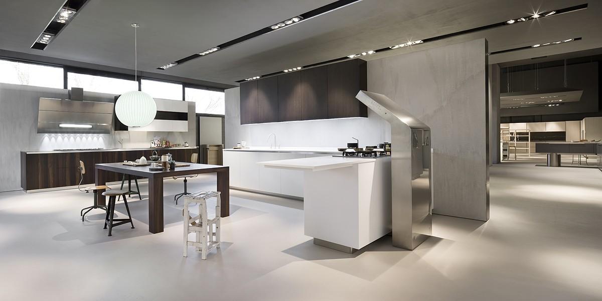Потолок в кухне в стиле хай-тек