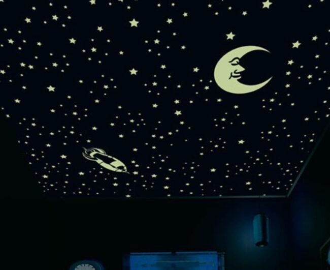 Черный потолок звездное небо