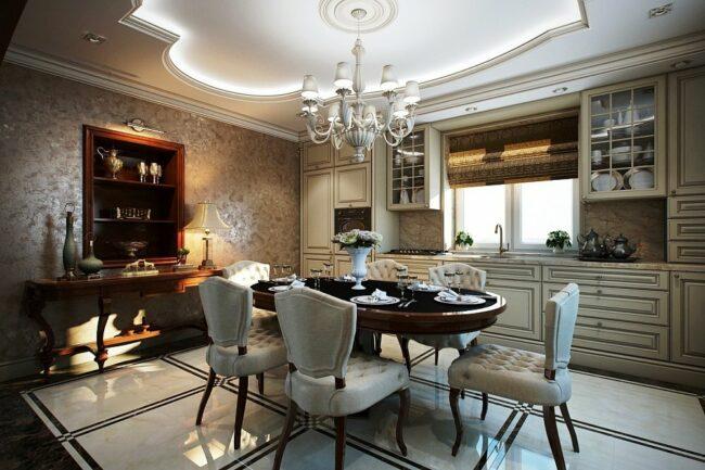 стильная кухня в классическом стиле