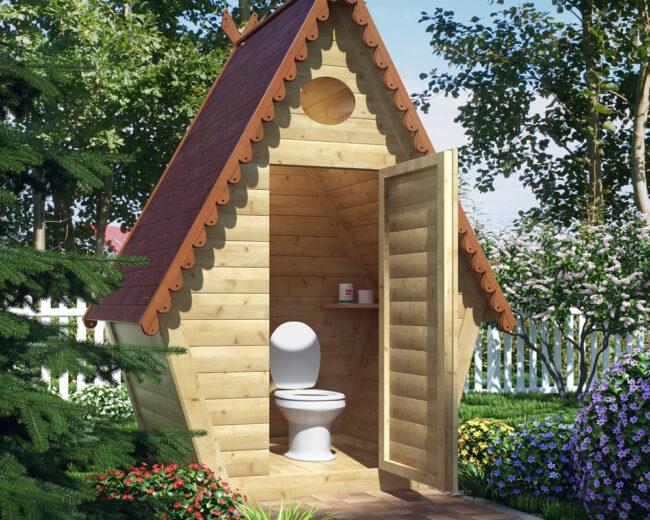 Красивый туалет для дачи