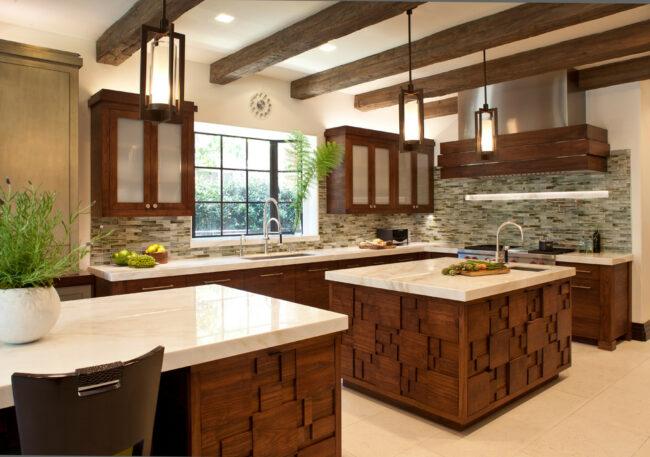 Деревянные материалы в кухне