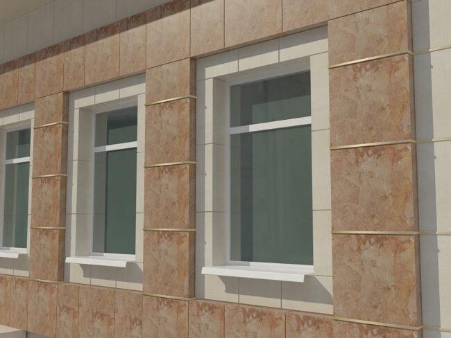 Фасад отделанный плиткой