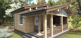 Оформление садового участка: детские домики и бани из бруса
