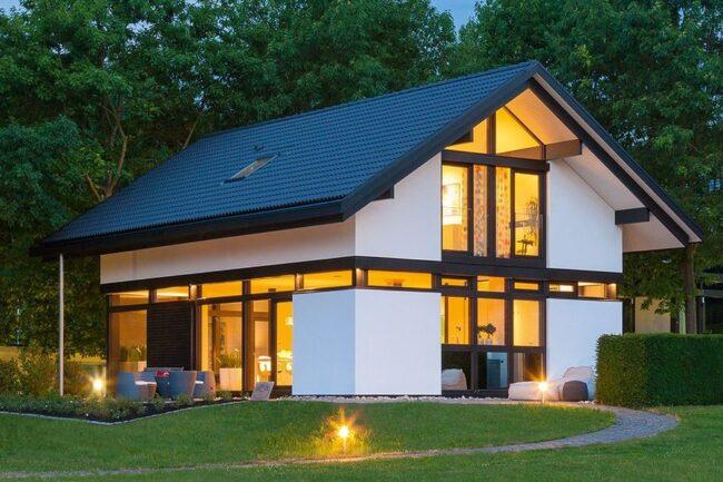 Небольшой красивый каркасный дом
