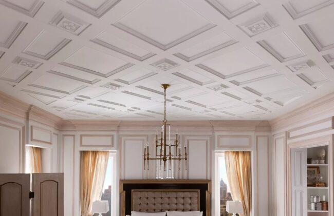 Декор потолка из гипса