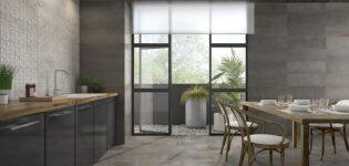 Серая плитка различной фактуры — один из базовых вариантов отделки стен, пола и лестничных ступеней