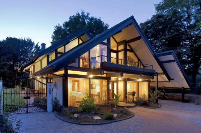 Загородный каркасный дом
