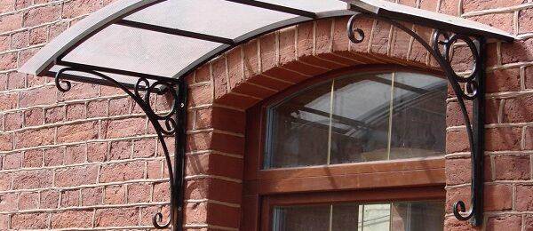 Как самостоятельно сделать козырек над входом в дом