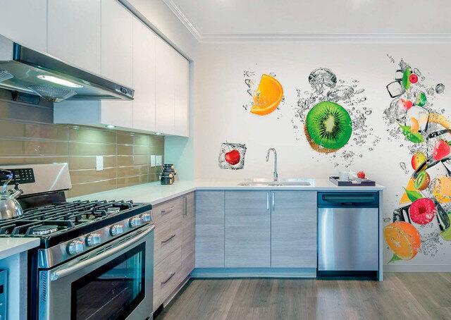 Кухня с фотообоями