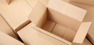 Какой материал используется для изготовления картонных коробок?