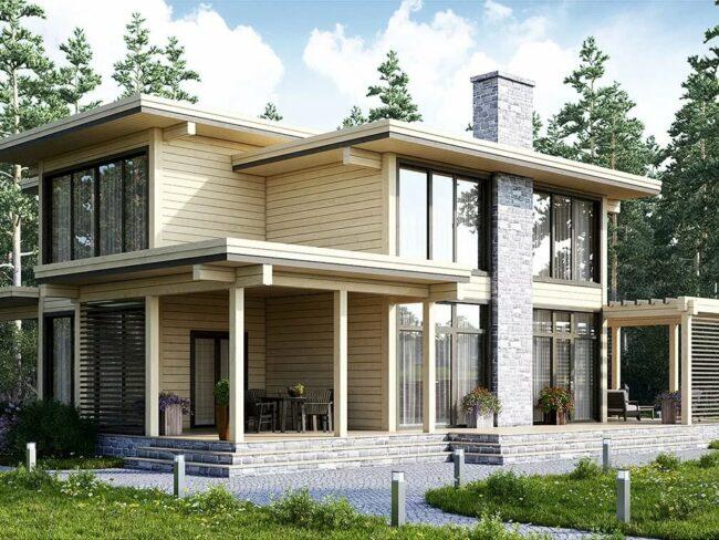 проект дома из кленового бруса