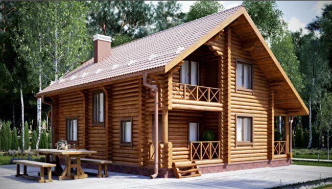 готовый дом из бревен